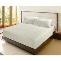 NINO1881 雙人天絲防潑水床包保潔墊2入-金白色+淺藍