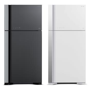 日立HITACHI 直流變頻570公升琉璃時尚二門電冰箱RG599(2色)