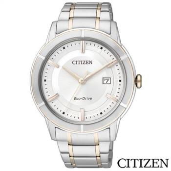 CITIZEN星辰 Eco-Drive紳士英爵光動能男士手錶 AW1084-51A