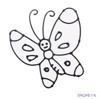 ~愛玩色 館~ MIT兒童無毒彩繪玻璃貼~ 小張圖卡 ~ 蝴蝶 ipcpS15 ~ 製