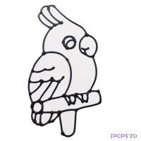 【愛玩色 館】 MIT兒童無毒彩繪玻璃貼- 小張圖卡 - 鸚鵡 ipcpS20 - 製