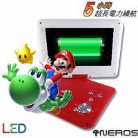 NEROS 10.1吋 超長5小時 LED RM8合一 移動式DVD(紅白)