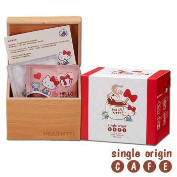 Hello Kitty Coffee 加朵GATO濾掛咖啡木箱禮盒(黃金曼特寧)