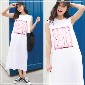 SCL長版無袖連身裙洋裝 均碼(M~2L適穿)