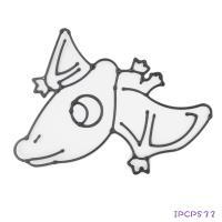 【愛玩色創意館】MIT兒童無毒彩繪玻璃貼 -配件 小張圖卡- 翼手龍 IPCPS32