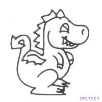 【愛玩色 館】MIT兒童無毒彩繪玻璃貼 - 小張圖卡- 恐龍 IPCPS23