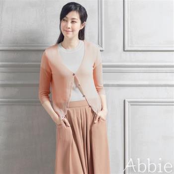 Abbie韓版糖果色防曬針織小外套
