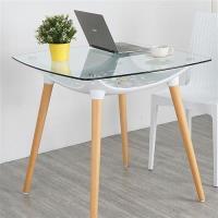 Homelike 柯絲北歐風玻璃桌(優雅白)