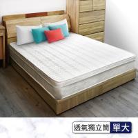 IHouse - 卡羅 日式透氣三線獨立筒床墊-單大3.5x6.2尺