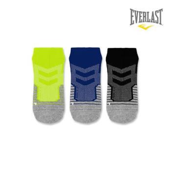 EVERLAST 美國運動品牌-棉質運動短襪三件組-女
