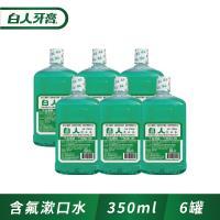 白人木醣醇+氟漱口水350cc (6件組)