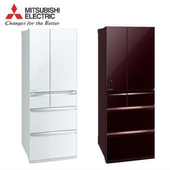 三菱 MITSUBISHI 六門日本製一級能效變頻冰箱605公升 MR-WX61C
