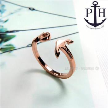 PH PAUL HEWITT / PH-FR-ARI-R / 德國品牌船錨C字不鏽鋼戒指 玫瑰金色 50.52mm