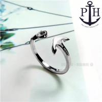 PH PAUL HEWITT / PH-FR-ARI-S / 德國品牌船錨C字不鏽鋼戒指 銀色 50.54mm