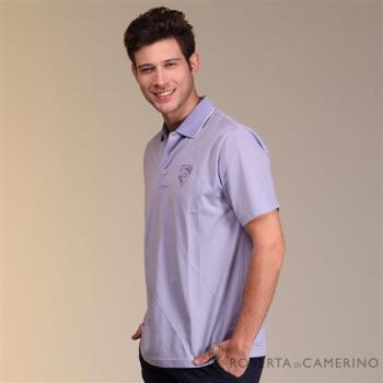 ROBERTA諾貝達 台灣製 吸濕排汗 運動涼感純色短袖POLO棉衫 紫色