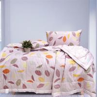 Indian-純棉三件式涼被枕套組-幽情小葉