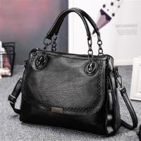 【L.Elegant】時尚優雅手提肩背斜跨醫生造型包B108_黑色