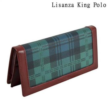 長夾-Lisanza King Polo兩折綠格夾
