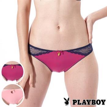 PLAYBOY內褲  側邊提花蕾絲三角褲