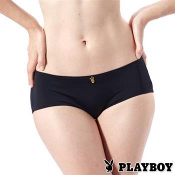 PLAYBOY內褲 經典無痕三角褲(黑色)