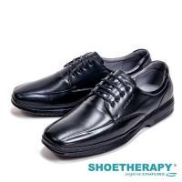 SAPATOTERAPIA 巴西製Soft舒適減壓方頭男皮鞋-黑