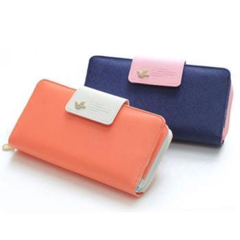【L.Elegant】韓版時尚多用途長夾卡包零錢包B106  (共二色)