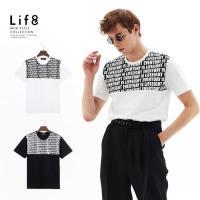 Life8-Casual 流行滿版圖騰 撞色剪接印花上衣