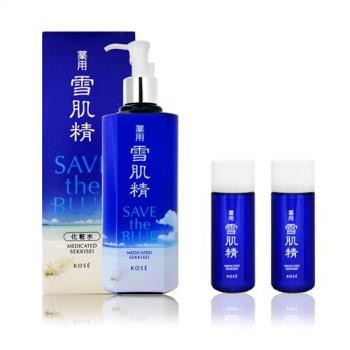 KOSE高絲 藥用雪肌精 500ml (海洋限定版)+kose化妝水33ml+kose乳液33ml