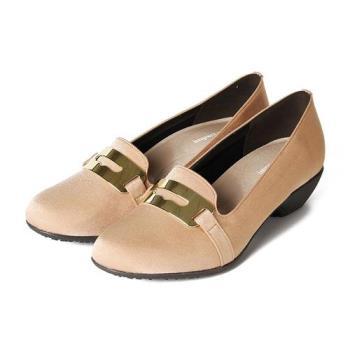 IMPACT MATERIAL 經典飾釦樂福撥水鞋 粉 女鞋 鞋全家福