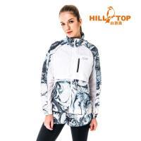 【hilltop山頂鳥】女款超輕量超潑水抗UV外套S02FC0-深藍印花