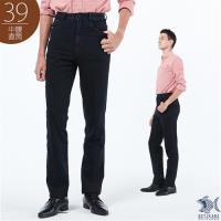 NST Jeans 德瑞克黑紳士皮質 五袋款牛仔褲/黑色(中腰)