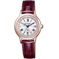 CITIZEN星辰xC粉樣櫻花鈦金屬電波限量腕錶  EC1144-00W