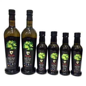 西班牙添得瑞 初榨冷壓橄欖油禮盒組-750ml *2+250ml *4