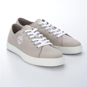 Timberland男款淡灰褐色帆布綁帶淺口鞋A1Q78K51