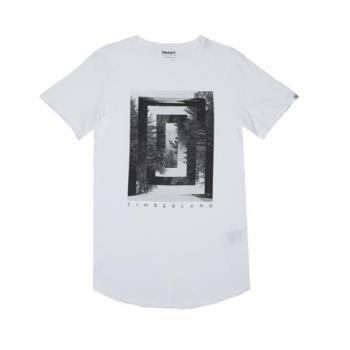Timberland男款灰色白色森林Kennebec River 圖案 T 恤A1M2IL53