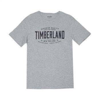 Timberland男款灰色LOGO圖案 T 恤A1LTW052