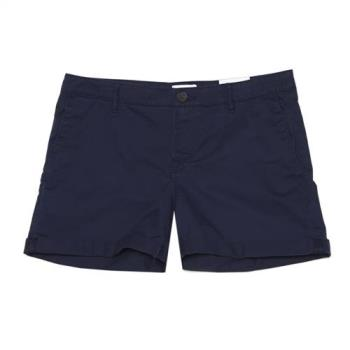 Timberland女款航海藍褲管反折休閒短褲A1K8CJ38