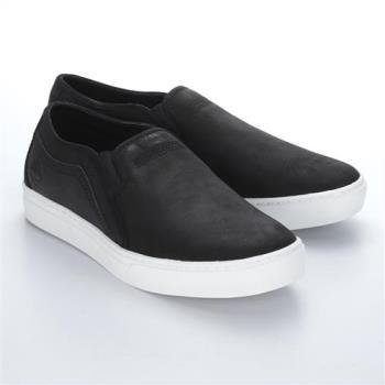 Timberland男款黑色Dauset 皮革休閒鞋A1JDX001