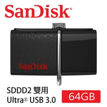SanDisk Ultra Dual SDDD2 USB3.0 雙用隨身碟 (64G/USB-Micro USB3.0/OTG) [公司貨]