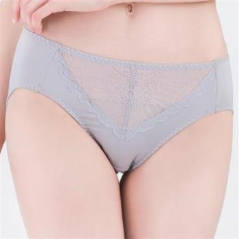 思薇爾 微戀花夏系列M-XXL蕾絲中腰三角內褲(蛋白石)