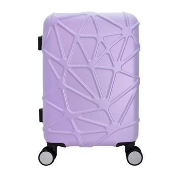 WALLABY 袋鼠牌 幾何星芒系列 24吋 PC拉鍊行李箱 淡紫 HTX4-1736-LL