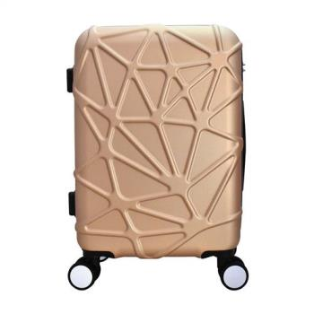 WALLABY 袋鼠牌 幾何星芒系列 24吋 PC拉鍊行李箱 玫瑰金 HTX4-1736-RG