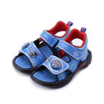 旋風騎士 電燈魔鬼氈涼鞋 藍 BLKT85316 中小童鞋 鞋全家福