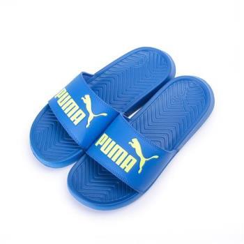 PUMA POPCAT JR 一片套式拖鞋 藍 365849-02 大童鞋 鞋全家福