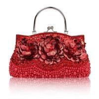 【米蘭精品】晚宴包亮片手提包-綻放花朵串珠華麗女手拿包7色73rk12