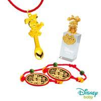 Disney迪士尼系列金飾 彌月金飾印章套組木盒-榜首美妮款-美妮造型印章 0.65錢