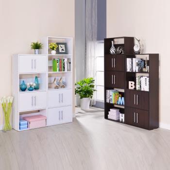 傢俱屋 北歐二代四層+五層雙門書櫃/隔間櫃
