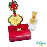 Disney迪士尼系列金飾 彌月金飾印章套組木盒-聰明伶俐米奇款-美妮造型印章 0.15錢