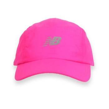 NEWBALANCE 專業帽-鴨舌帽 NB 螢光粉銀