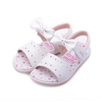 MIFFY 米飛兔蝴蝶結涼鞋 白 中童鞋 鞋全家福